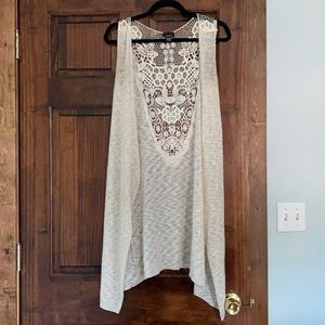 Cream Cardigan with Lace